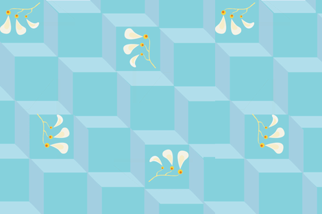 Elegant freshness fabric by melachmulik on Spoonflower - custom fabric
