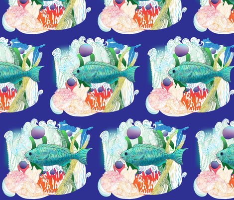 Fab Fish fabric by aftermyart on Spoonflower - custom fabric