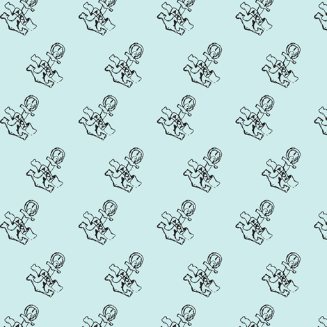 Anchor-print-ch. LIGHT AQUA with black fabric by madamsalami on Spoonflower - custom fabric