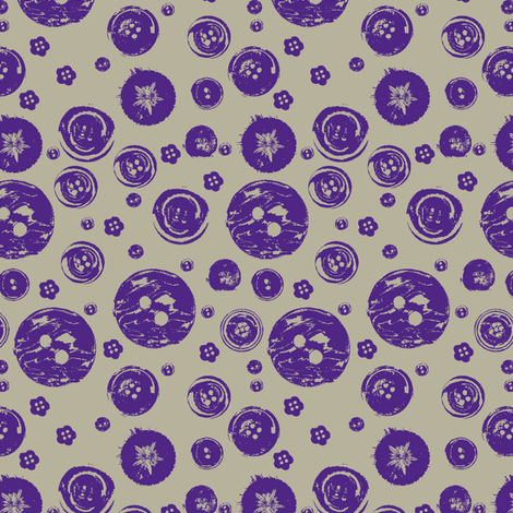vintage-buttons-ch PURPLE fabric by madamsalami on Spoonflower - custom fabric