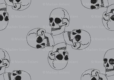 Skull-pattern1-ch. Grey/gray