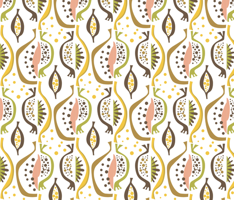 peach_half fabric by antoniamanda on Spoonflower - custom fabric