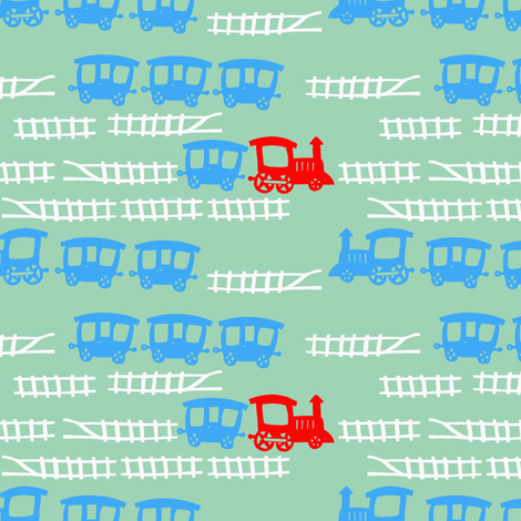 Little-Red-Engine fabric by madamsalami on Spoonflower - custom fabric