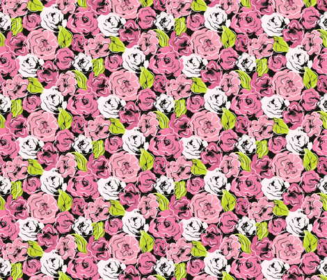 Gossiping Girl fabric by mag-o on Spoonflower - custom fabric