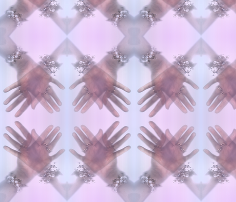 Let me give you a hand fabric by jenithea on Spoonflower - custom fabric