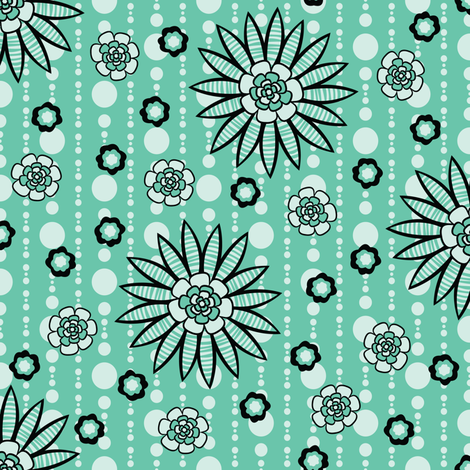 Winter Garden Party fabric by robyriker on Spoonflower - custom fabric