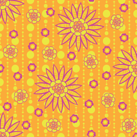Sunset Garden Party fabric by robyriker on Spoonflower - custom fabric