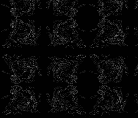 black_rose_embossed fabric by mandybeau on Spoonflower - custom fabric