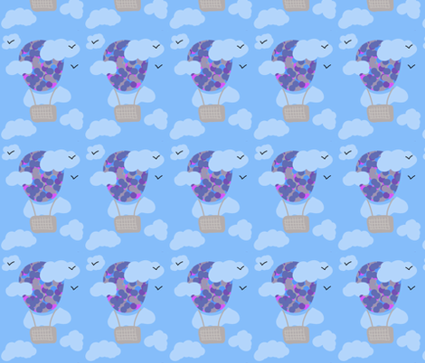 Up, up and away fabric by january_ on Spoonflower - custom fabric