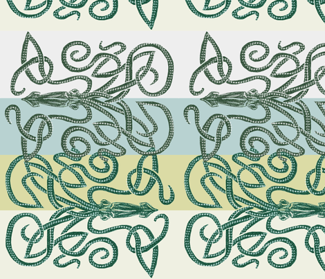 The Kraken Tangle fabric by wren_leyland on Spoonflower - custom fabric