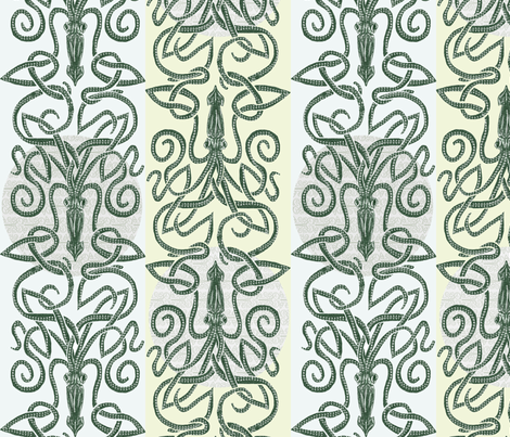 Kraken Moon fabric by wren_leyland on Spoonflower - custom fabric