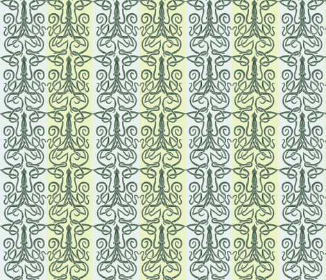 kraken-squid-paired-1k fabric by wren_leyland on Spoonflower - custom fabric