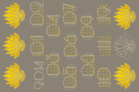 2014 Art Deco calendar fabric by mariao on Spoonflower - custom fabric