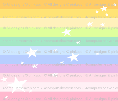 Sparkle Stars Mini Striped - Rainbow Pastels  -  PinkSodaPop 4ComputerHeaven.com