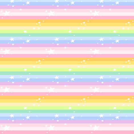 Sparkle Stars Mini Striped - Rainbow Pastels  - © PinkSodaPop 4ComputerHeaven.com fabric by pinksodapop on Spoonflower - custom fabric