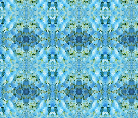 Light Blue Hydrangea fabric by falcon11 on Spoonflower - custom fabric