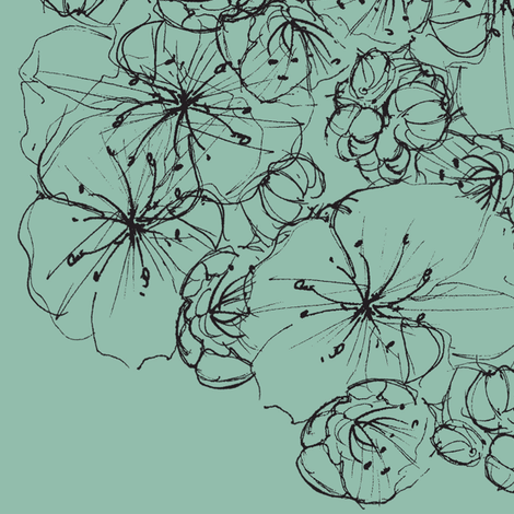 Sketched Flower fabric by jessyd on Spoonflower - custom fabric