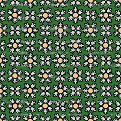 Floral Dot gray green © 2012 by Jane Walker