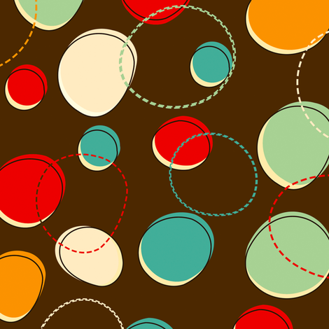 Funny circles fabric by irur on Spoonflower - custom fabric