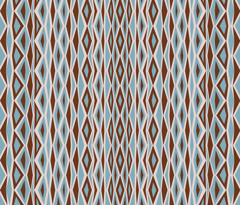 Blue & Brown Diamonds fabric by ghennah on Spoonflower - custom fabric