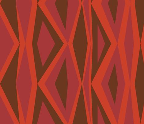 DeepRedDiamonds fabric by ghennah on Spoonflower - custom fabric