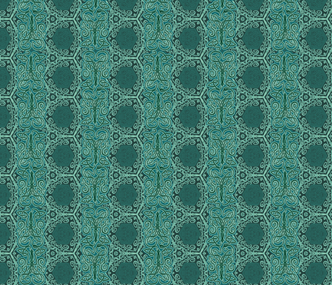 Teal Sea Squid Kraken fabric by wren_leyland on Spoonflower - custom fabric