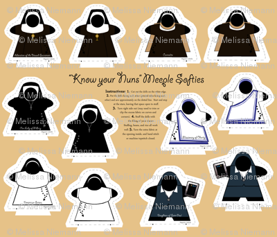 Know Your Nuns Catholic quiet toys Softies