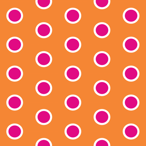 Frosty Pink Polka on Mandarin fabric by smuk on Spoonflower - custom fabric