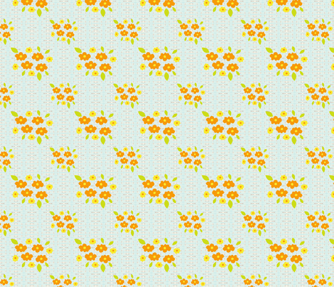 flower bunches fabric by siribean on Spoonflower - custom fabric