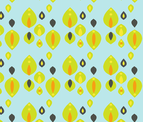 leaf pattern fabric by siribean on Spoonflower - custom fabric