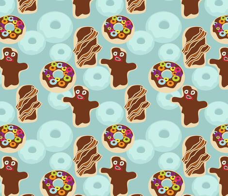 Voo Doo donuts fabric by thecalvarium on Spoonflower - custom fabric