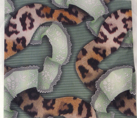 Leopards 'n' Lace - Meandering - Green