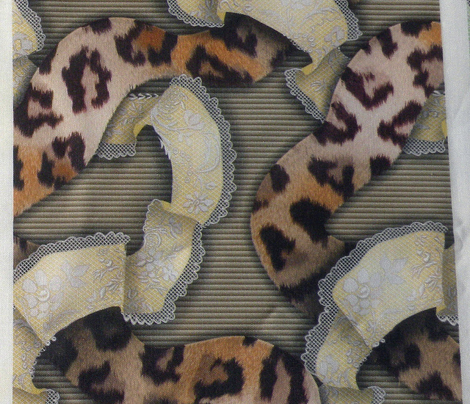 Leopards 'n' Lace - Meandering - Yellow
