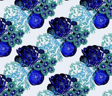 Mid Century Blues fabric by peacoquettedesigns on Spoonflower - custom fabric