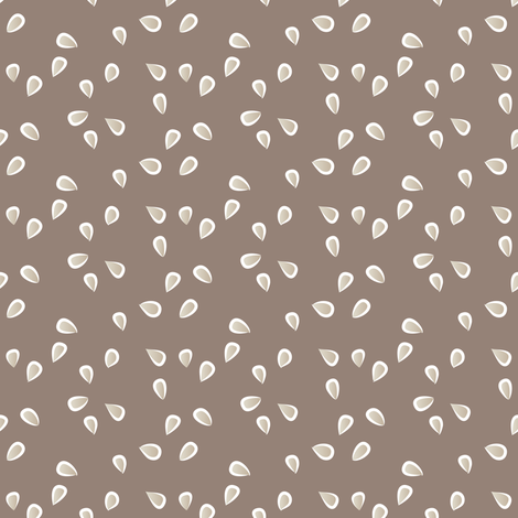 little petals - earth fabric by fox&lark on Spoonflower - custom fabric