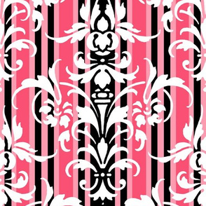 Paris Stripe Damask