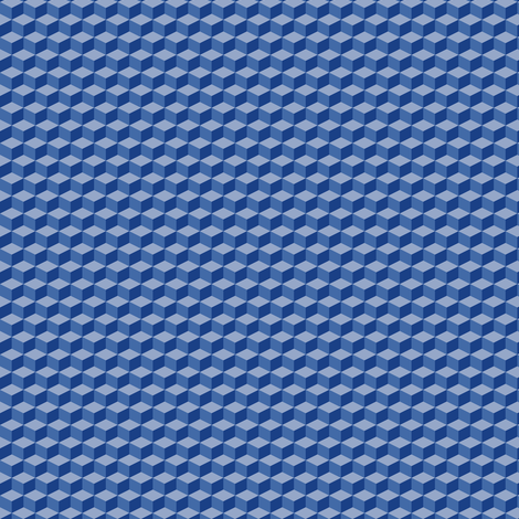 Cubes (Blue/Violet) fabric by shannonmac on Spoonflower - custom fabric