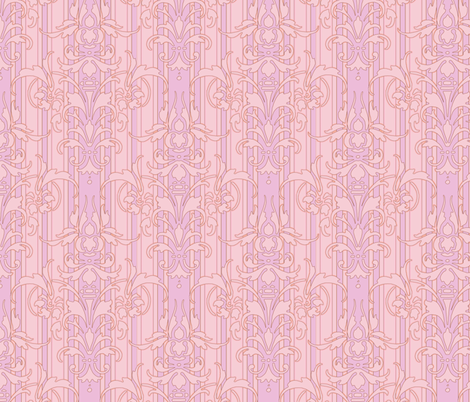 Prairie Dawn Damask fabric by peacoquettedesigns on Spoonflower - custom fabric