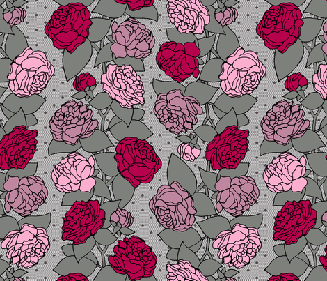 BEAU_FLEUR_STRIPE_rose fabric by glorydaze on Spoonflower - custom fabric