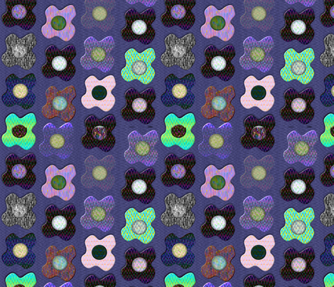 mosaic_floral fabric by glimmericks on Spoonflower - custom fabric