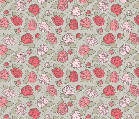 BEAU_FLEUR_sauman fabric by glorydaze on Spoonflower - custom fabric