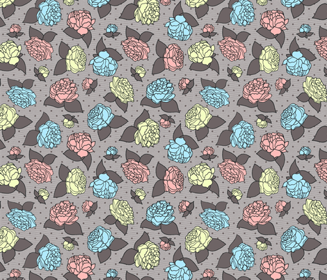 BEAU_FLEUR_pastel fabric by glorydaze on Spoonflower - custom fabric
