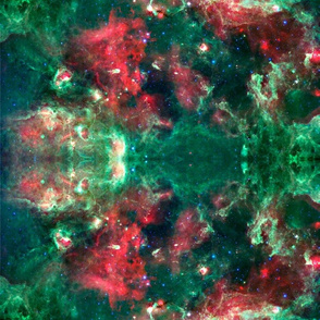 GALAXY red and green