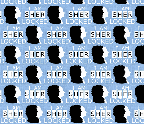 I AM SHERLOCKED fabric by marchhare on Spoonflower - custom fabric