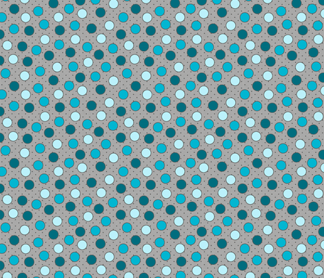 BEAU_FLEUR_spots_bleu fabric by glorydaze on Spoonflower - custom fabric