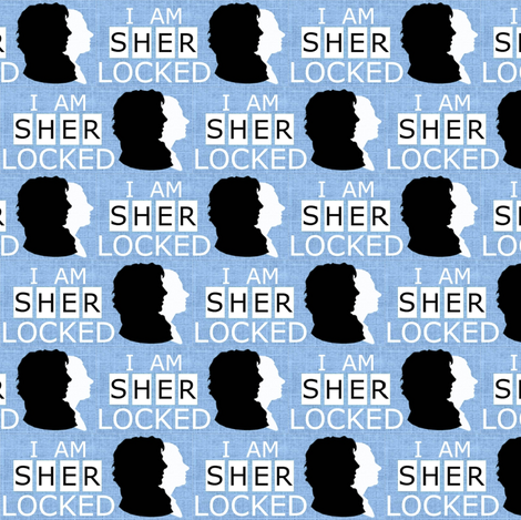 I AM SHERLOCKED edit-60% reduced fabric by marchhare on Spoonflower - custom fabric