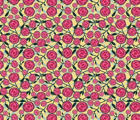 Abstract Rose Mid Century Design fabric by madex on Spoonflower - custom fabric