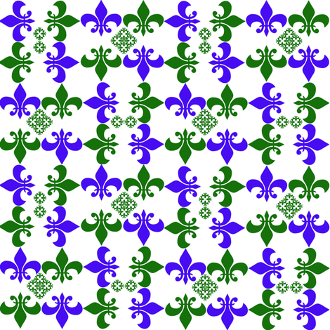 Mini Fleur de Lis fabric by scifiwritir on Spoonflower - custom fabric