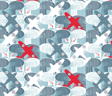 Adventure Par Avion fabric by spellstone on Spoonflower - custom fabric
