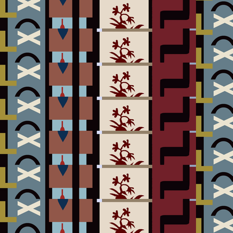 Chicago Balconies fabric by boris_thumbkin on Spoonflower - custom fabric